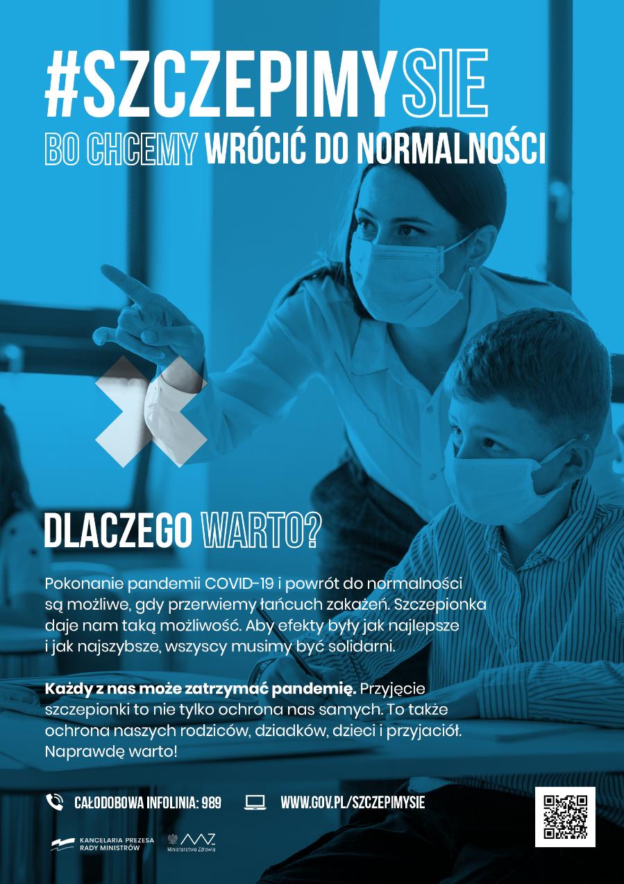 plakat zachęcający do szczepień